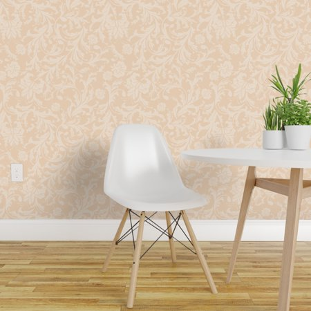 Removable Water-Activated Wallpaper Winter Cabin Winter Snowflakes Falling Snow ()