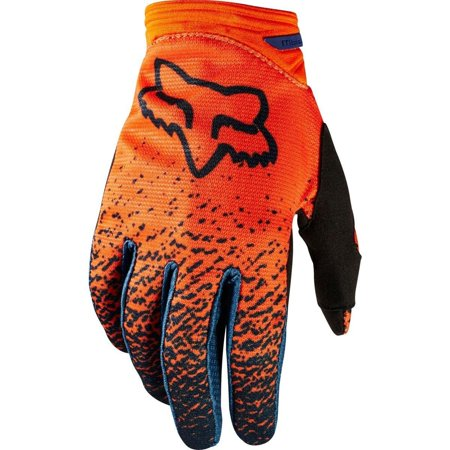 Dirtpaw Women's Off-Road Motorcycle Gloves - Grey/Orange / Small, Conductive fabric - works with touch screen devices, Stretch polyester construction By Fox Racing from USA