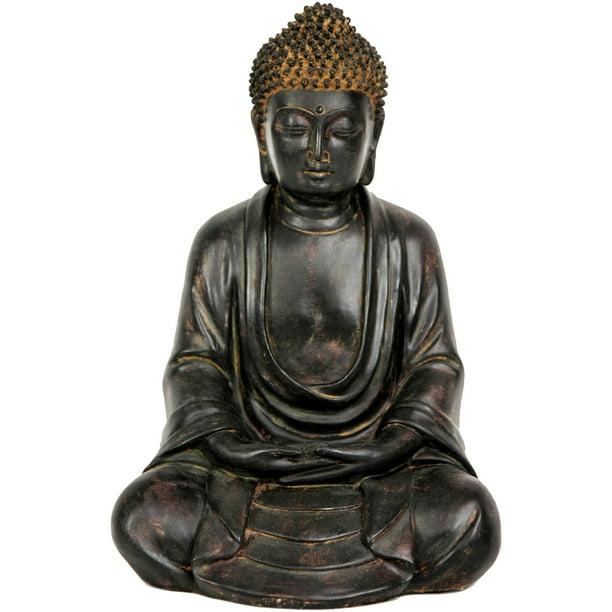 Oriental Furniture 9 Japanese Sitting Buddha Statue Decorative Piece Any Occasion Figurine Statue Walmart Com Walmart Com