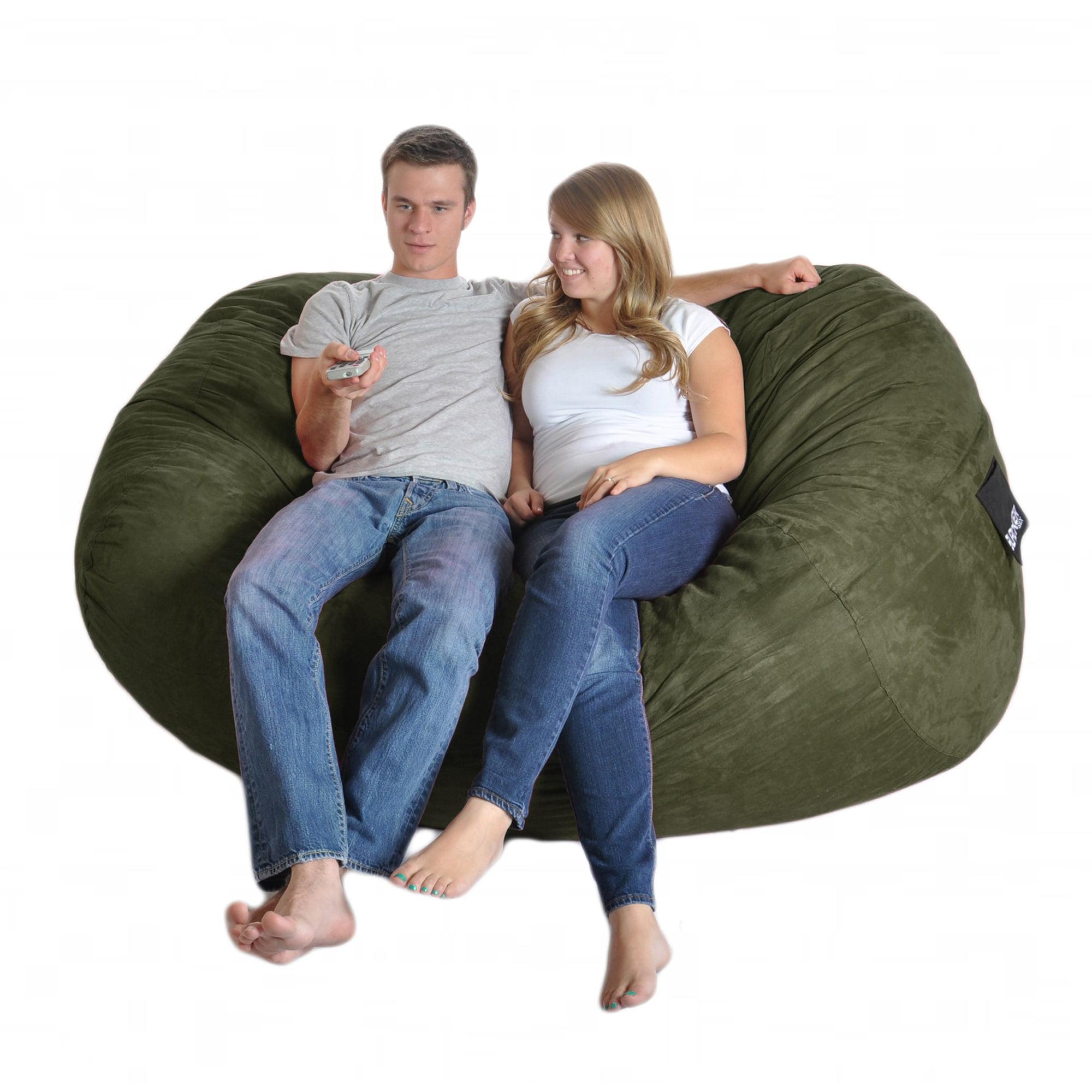 Slacker Sack Six-foot Oval Olive Green Microfiber and Foam Bean Bag