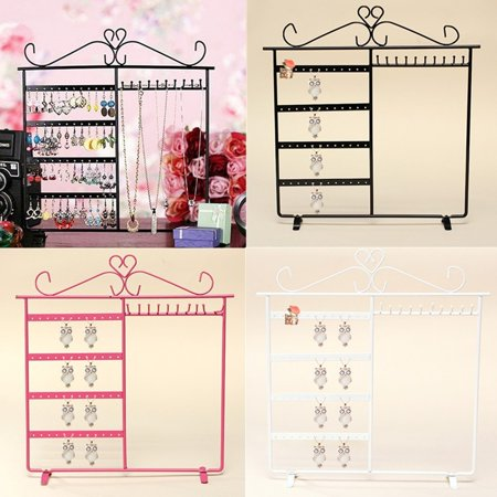 White/Pink/Black Upgrade Jewelry Display Rack Organizer Holder Earrings Metal Stand Necklace Holder Jewelry Tree