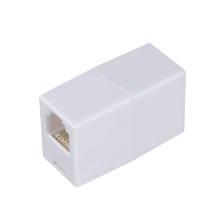 AmerTac - Zenith TS1001CW TS1001CW 6 Conductor Inline Coupler, White Landline Telephone Accessory, Connects two modular line cords By AmerTac (Connect A Landline Phone To A Computer)