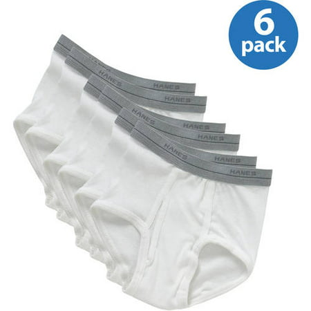 Hanes Boys' Cotton Exposed Waistband Briefs 6-Pack