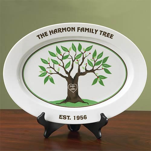 Personalized Family Tree Platter