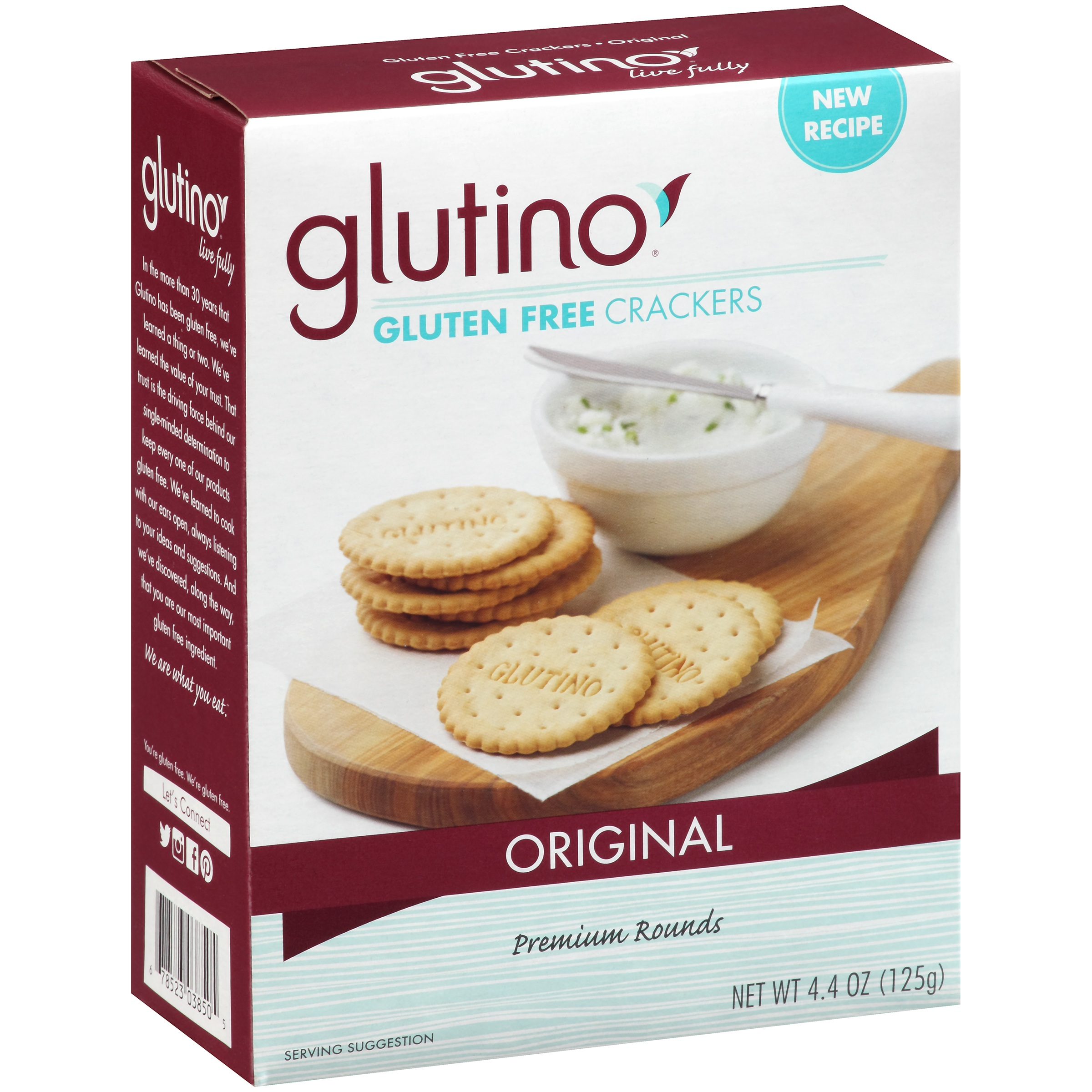 Glutino Original Gluten Free Crackers 4.4 oz. Box by Glutino, A Division of Boulder Brands USA, Inc.