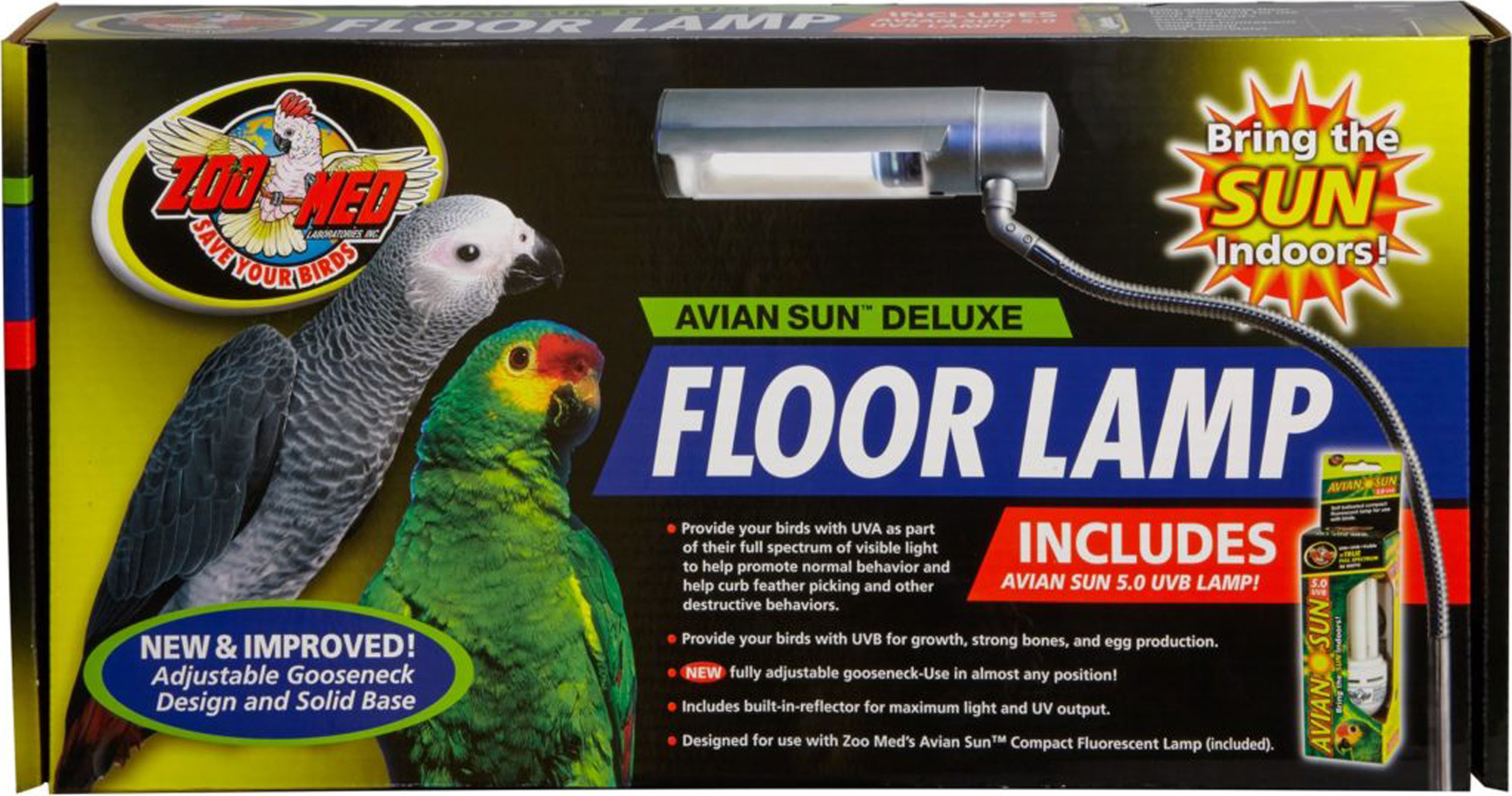 Aviansun Deluxe Floor Lamp With Avian Sun Walmart Com