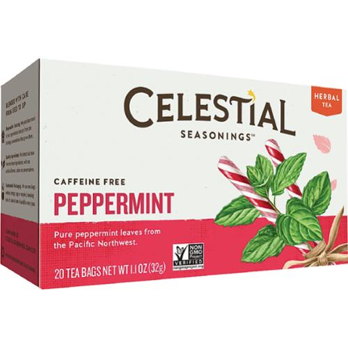 Celestial Seasonings Caffeine Free Peppermint Natural Herbal Tea 20 ea (Pack of 4)