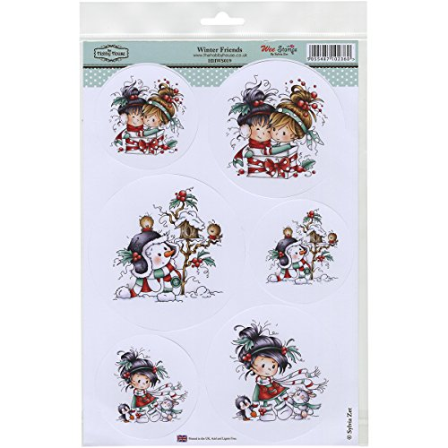 Wee Stamps Topper Sheet 8.3X12.2 -Winter Friends Multi-Colored