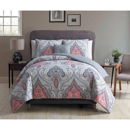 Better Homes And Gardens Gray Medallion 4 Piece Bedding
