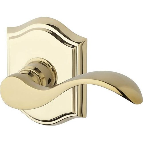 Baldwin Curved Keyed Door Lever with Traditional Arch Rose