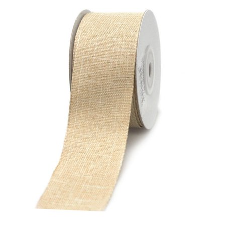 Cotton Woven Wired Edge Ribbon, 1-1/2-inch, 10-yard, Ivory