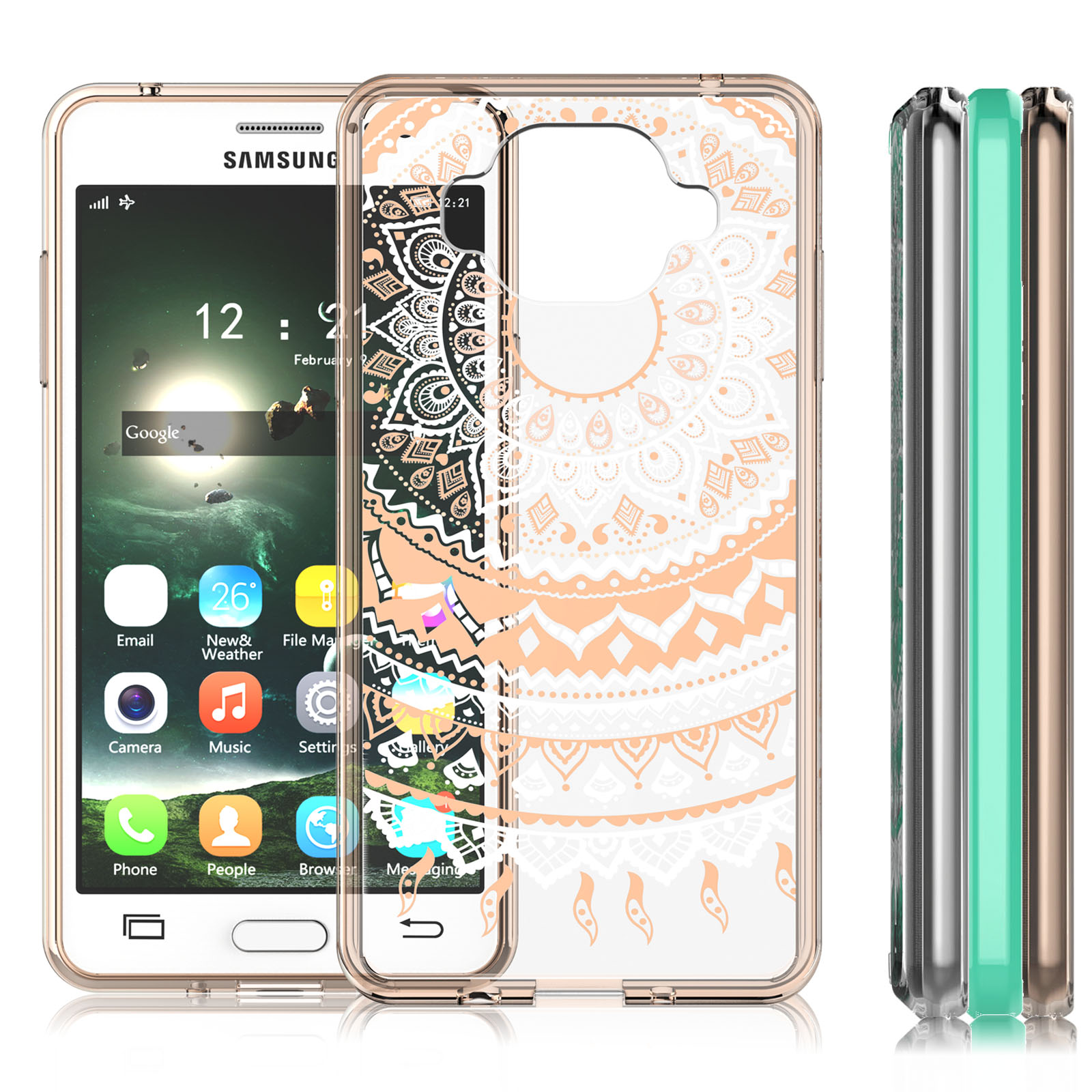 pretty nice 1df09 3cee7 Galaxy On5 Case, Galaxy On 5 Case For Girls, Lovely Transparent Cute  Adorable Ultra Thin Clear Hard TPU Skin Scratch-Proof Bumper Phone Cases  For ...
