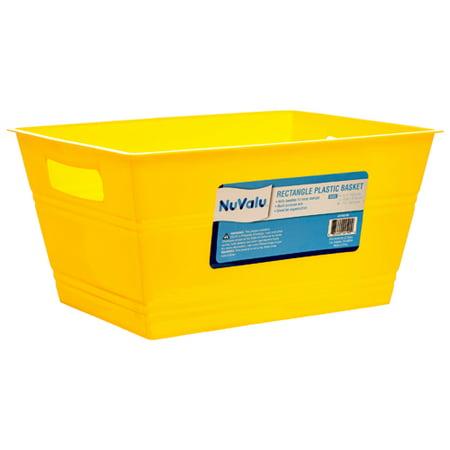 New 379541  Nuvalu Plastic Basket Rect 10.6