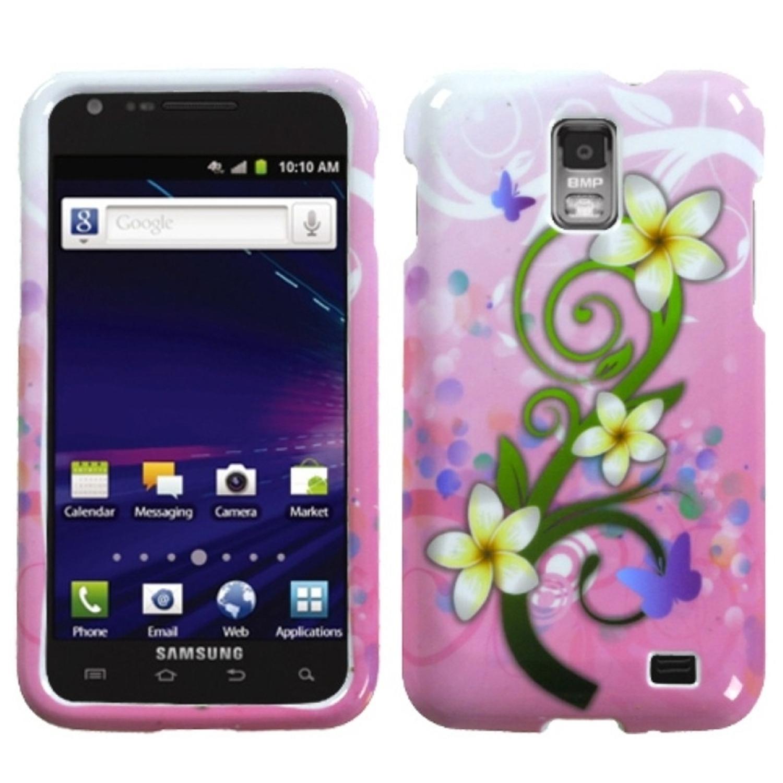 Insten Tropical Flowers Phone Case for SAMSUNG: i727 (Galaxy S II Skyrocket)