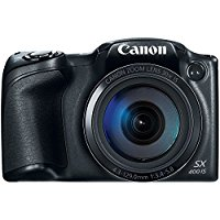 "Canon PowerShot SX400 IS Mega-Zoom Camera- Black,  16MP, 30X, HD, 24mm wide, 3"" LCD"