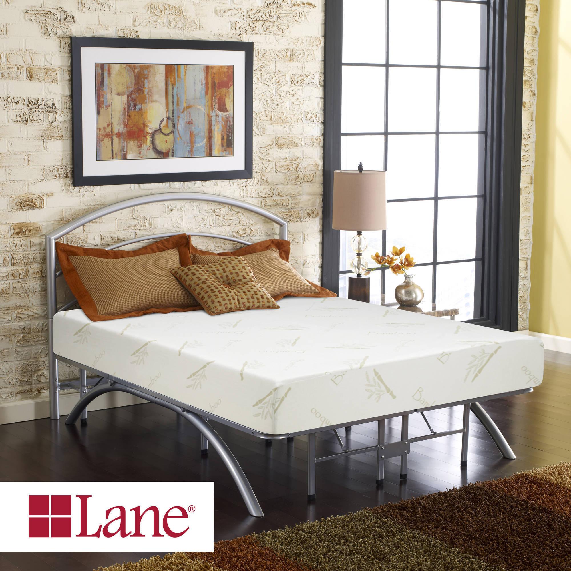"Contura by Lane 10"" Medium Firm Plush Top Memory Foam Mattress Bed, Multiple Sizes"