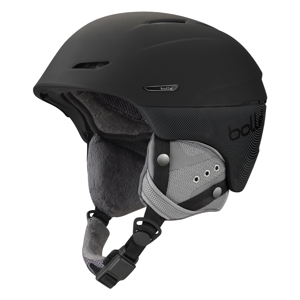 Bolle Winter Millenium Soft Black & Grey 61-63cm 31178 Ski Helmet Click-to-Fit by Bolle