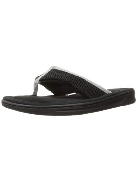 5b04e3c69a970 Product Image men s mesh thong slipper. Product Variants Selector. Black  White