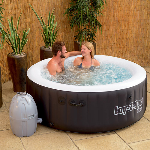 Bestway SaluSpa 71 x 26 Inch Inflatable Portable 4-Person Spa Hot Tub | 54124 by Bestway