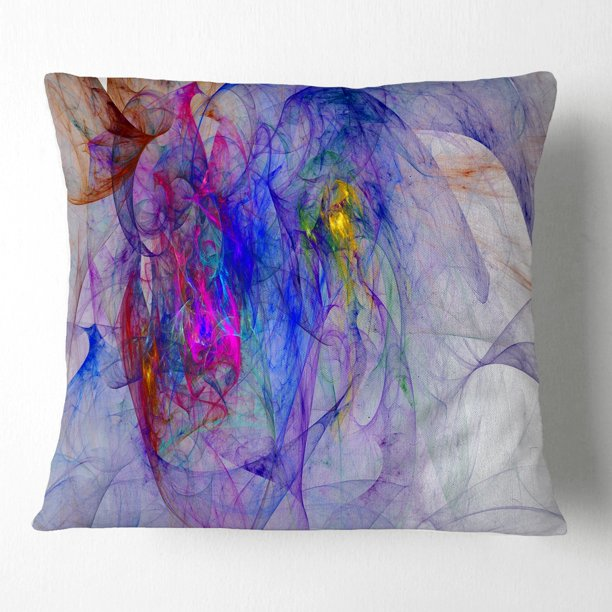 Design Art Designart Blue Mystic Psychedelic Texture Abstract Throw Pillow Walmart Com Walmart Com