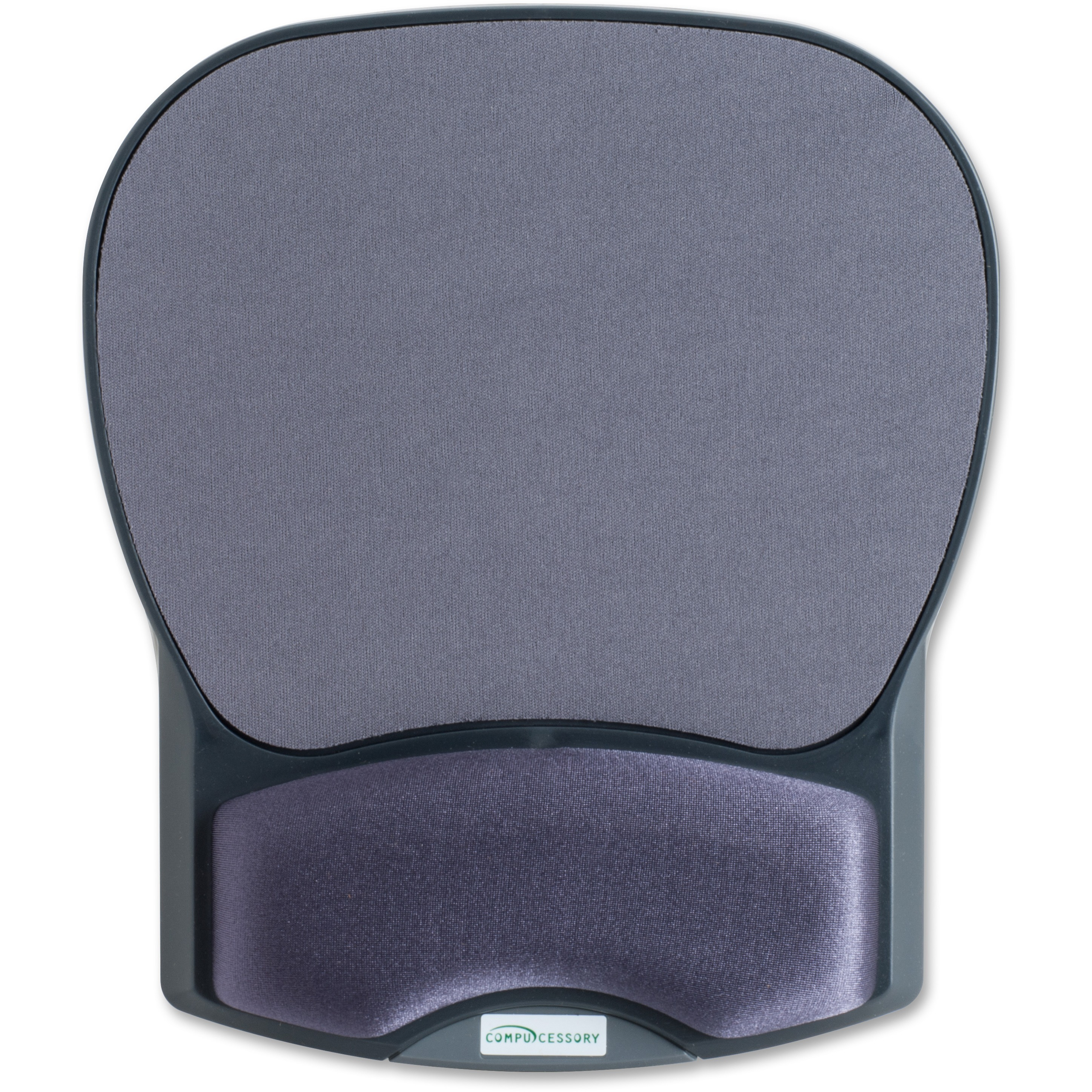 Compucessory, CCS55302, Gel Wrist Rest with Mouse Pads, 1, Charcoal