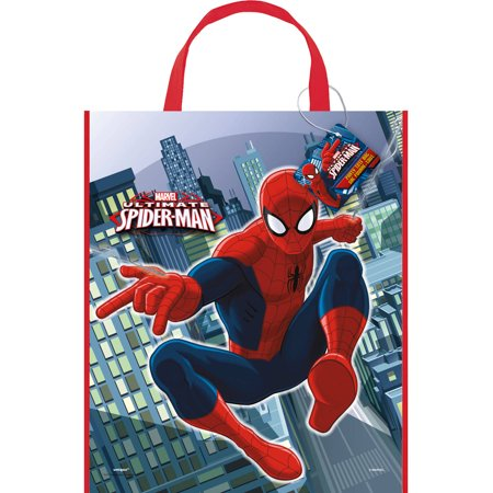 Large Plastic Spiderman Favor Bag, 13