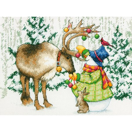 Ornamental Reindeer Counted Cross Stitch Kit, 12