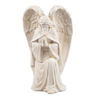 Fox Valley Traders WalterDrake Resin Angel Statue - Religious Garden Statue Remembrance Memorial Guardian Angel – 16 inch