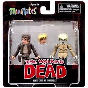 The Walking Dead Comic Book Minimates Series 7 Hunter Chris & Zombie Holly Minifigure 2-Pack