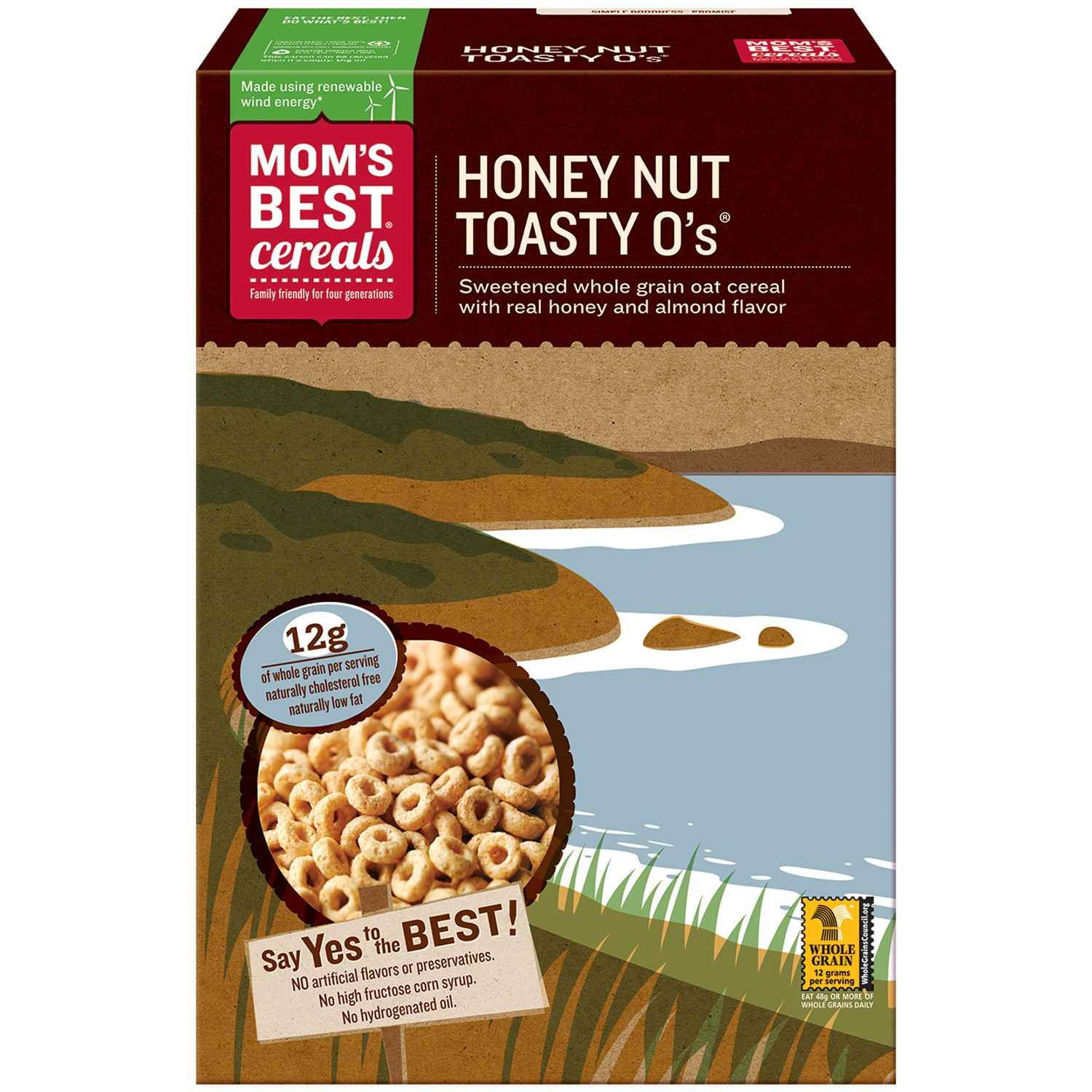 Mom's Best Naturals Honey Nuttoasty Os - Case Of 10 - 20 Oz.