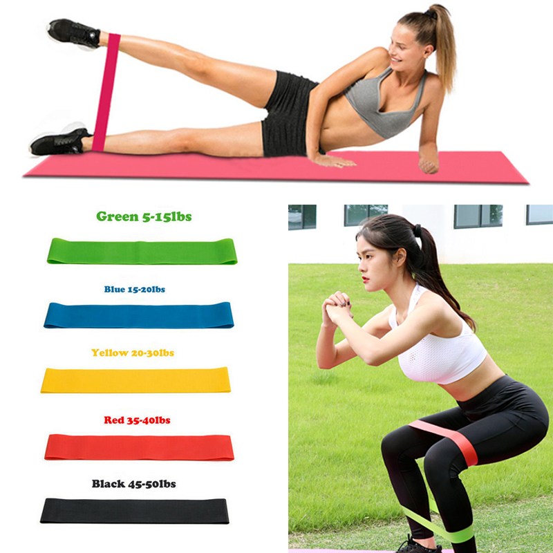 Resistance Bands Loop Set Cross Fit Fitness Sports Booty Leg