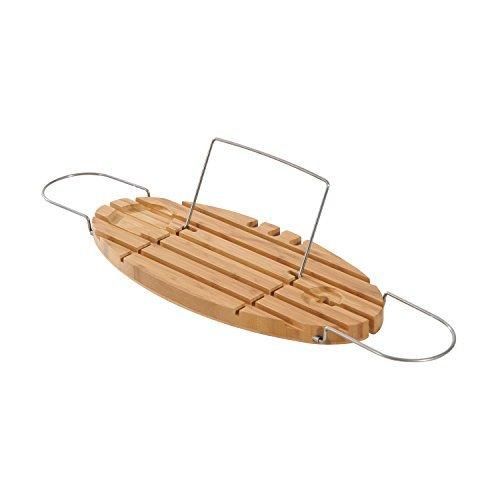 Symple Stuff Jolin Adjustable Oval Bamboo Bath Caddy by