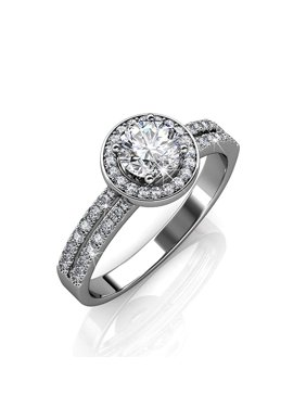86bea9262 Product Image Cate & Chloe Madelyn 18k White Gold Plated Ring w/Swarovski  Crystals, Engagement Promise