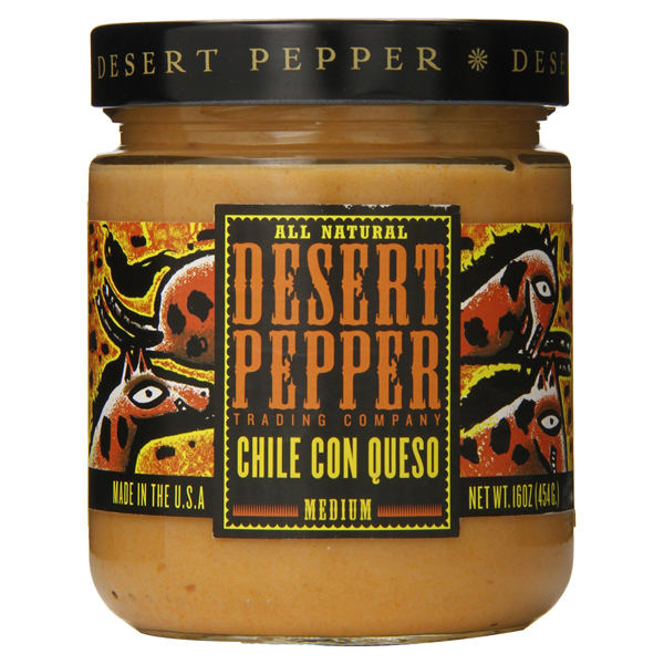 Desert Pepper Chile Con Queso Dip 16 oz Jars - Pack of 6