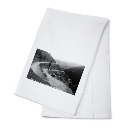 Central City, Colorado - Shelf Road in Virginia Canyon Photograph (100% Cotton Kitchen Towel) - Party City In Virginia