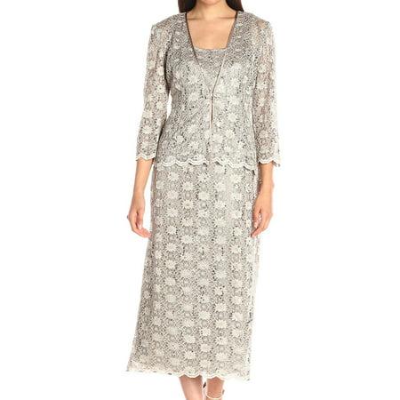 Sequin Sheath Dress (R&M Richards NEW Silver Womens Size 8 Sleeveless Sequin Sheath Dress)