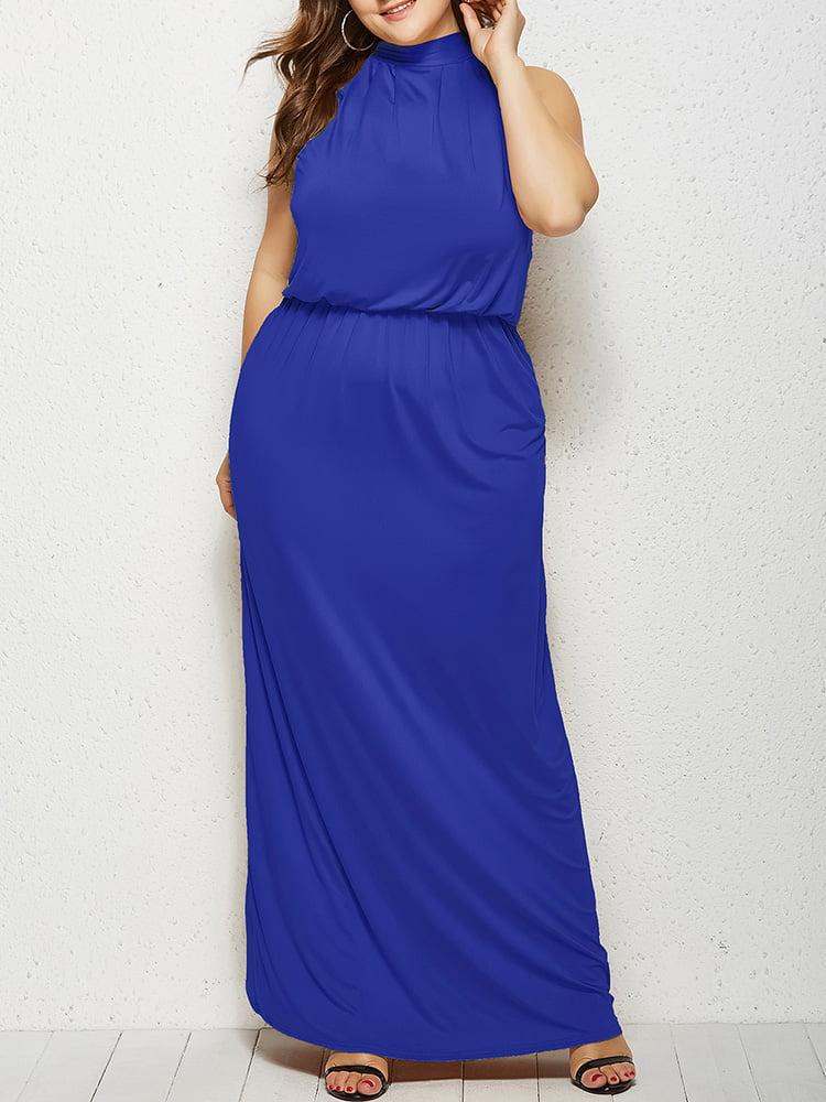Plus Size Womens Maxi Dress Ladies Christmas Halloween Evening Party Dress 18-28