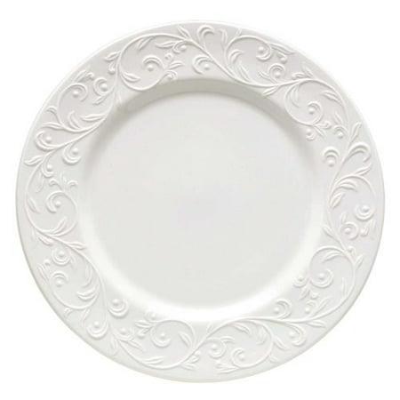 Lenox Federal Platinum Dinner Plate - Lenox Opal Innocence Carved Dinner Plate
