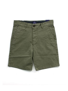 Boy's Twill Shorts with Rolled Cuff