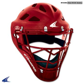 Performance Catcher's Hockey Style Headgear- Adult 7-7 1/2, Scarlet Red