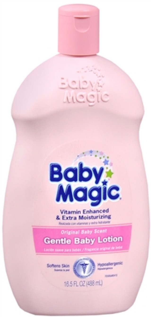 Baby Magic Gentle Baby Lotion Original Baby Scent 16.50 oz (Pack of 6) by Baby Magic