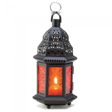 Gallery Of Light Amber Moroccan Candle Lantern ()