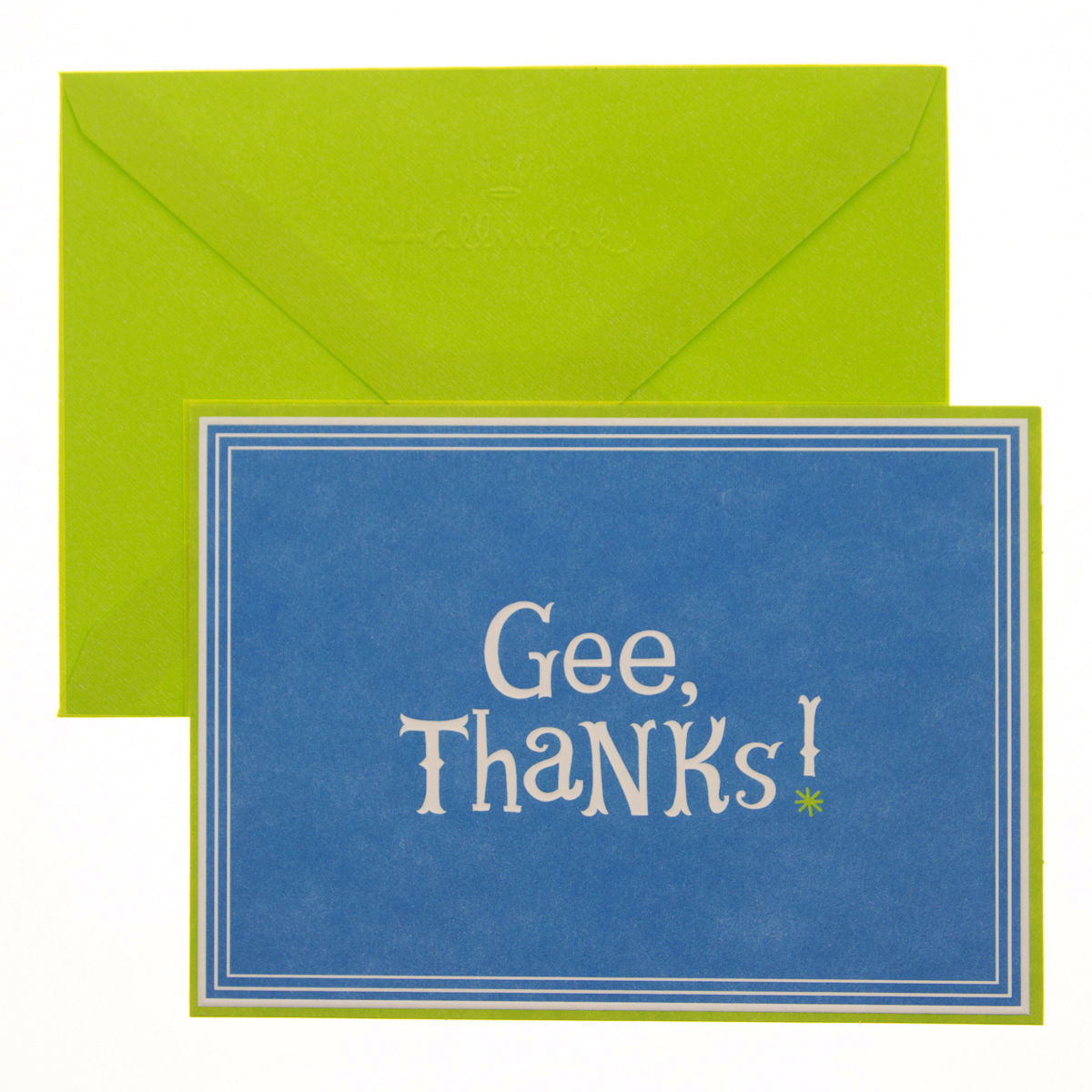 "50 Pack Hallmark 4"" x 5.5"" Blank Inside Thank You Cards With Envelopes Bulk Set Gee Thanks"