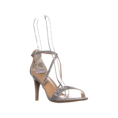 Womens TS35 Darria Cross Strap Evening Sandals, Pewter
