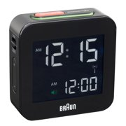 Braun  Digital LCD Black Global Radio Controlled Alarm Clock