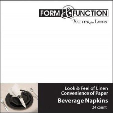 Better than Linen White Beverage Napkins 24 per Pack, The look and feel of real linen in an absorbent, convenient disposable By Creative Converting Ship from - Rowan Creative Linen