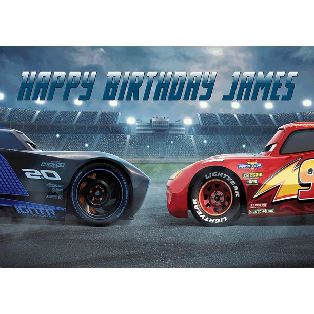 Astounding Lightning Mcqueen Cars 3 Disney Quarter Sheet Edible Photo Birthday Cards Printable Opercafe Filternl