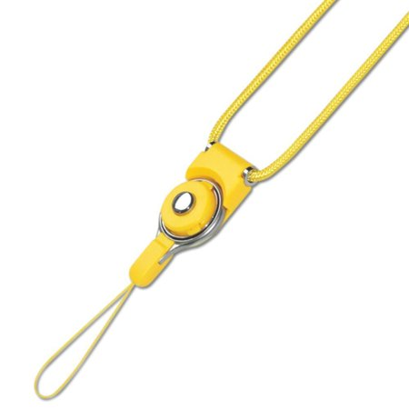 REIKO LONG LANYARD STRAP WITH CLIP IN YELLOW  - image 1 de 1