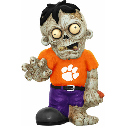 Forever Collectibles NCAA Resin Zombie Figurine, Clemson University Tigers