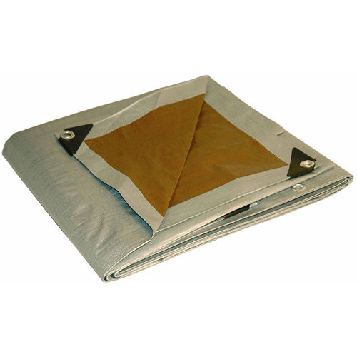 Foremost Tarp 10' x 15' Silver and Brown Tarp